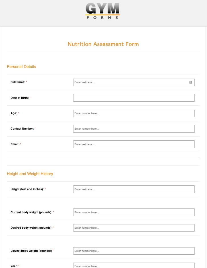 Nutritional Consultation Form