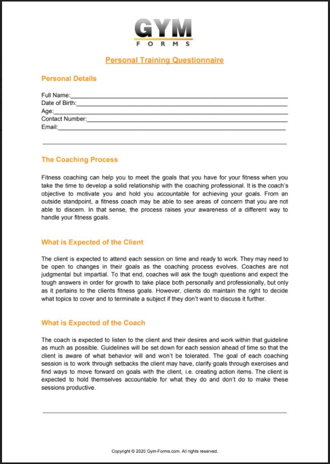 Personal Training Consultation