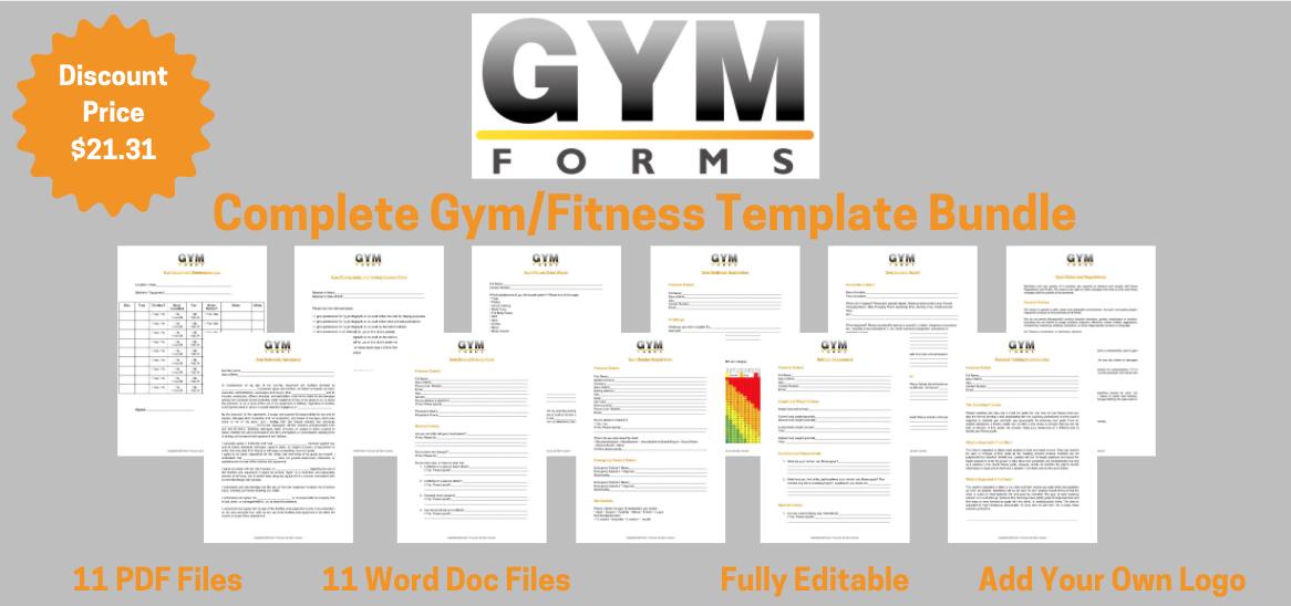 Gym PDF Template Bundle